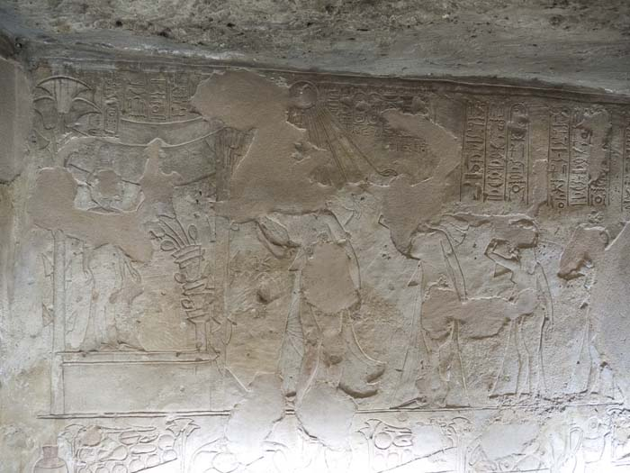 Depictions at Akhenaton's Tomb