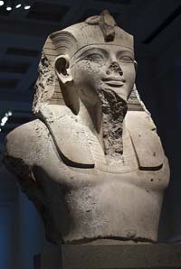 © Ian Glover - Bust of Amenhotep III