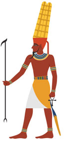 The Ancient Egyptian god Amun