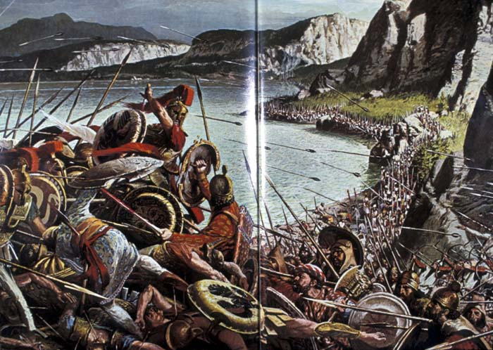 Depiction of the Battle of Thermopylae
