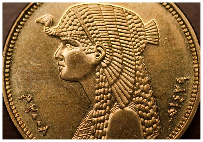 Cleopatra, depiction on a Ptolemaic coin