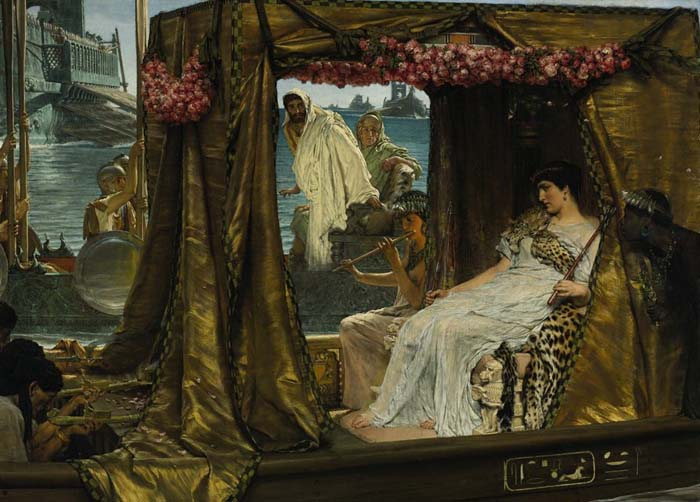 Mark Antony and Cleopatra, painting by Lawrence Alma-Tadema