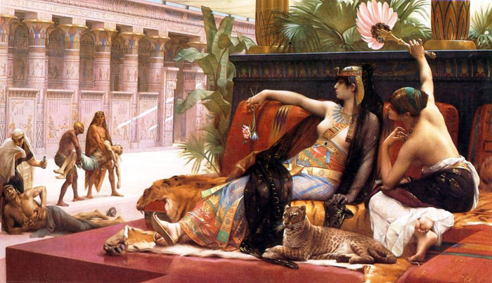 Cleopatra testing poisons on condemned prisoners, painting by Alexandre Cabanel