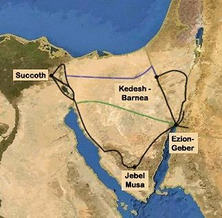 The Exodus - Map of egypt during exodus