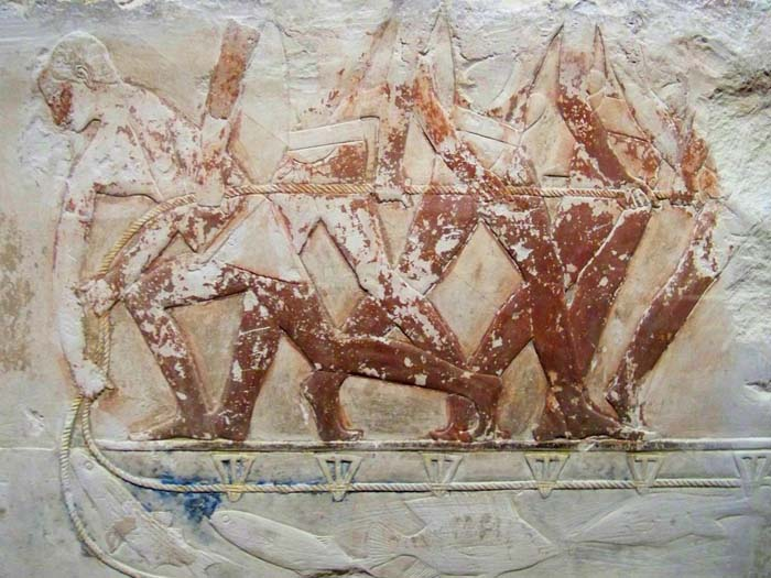 Relief of ancient egyptian peasants