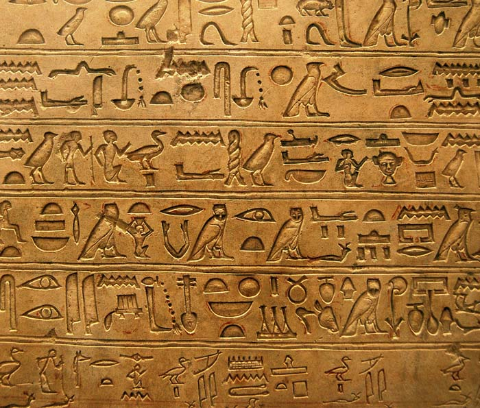 Egyptian hieroglyphics language