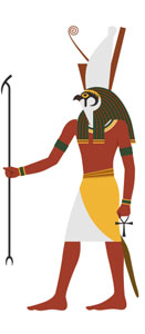 The Ancient Egyptian god Horus