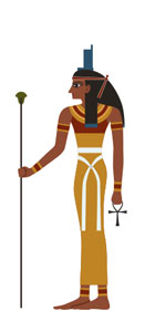 The Ancient Egyptian god Isis