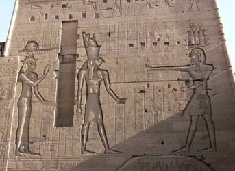 Isis and Horus at Philae Temple