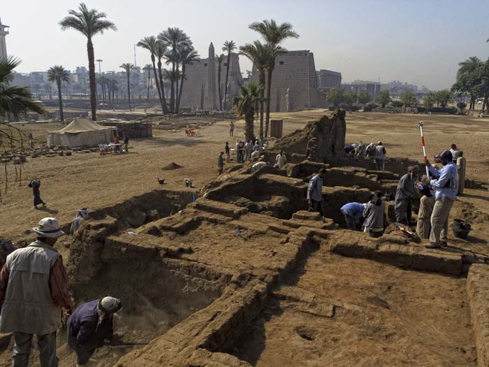 Excavations at Luxor