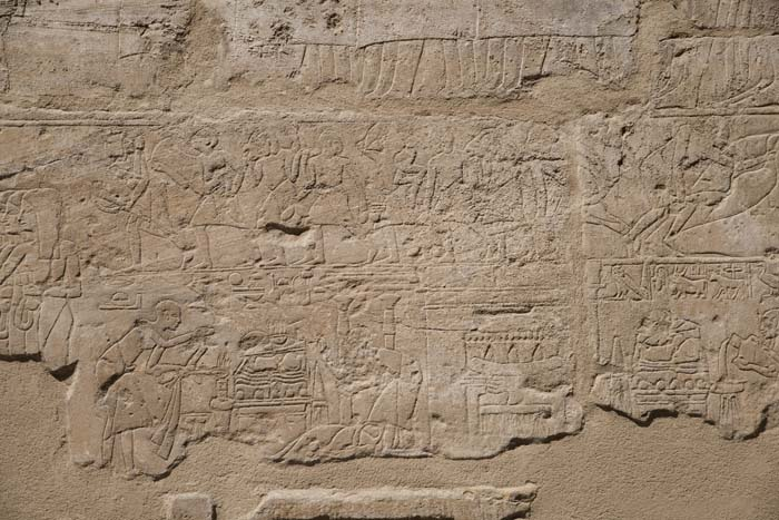 Relief depicting the Beautiful Feast of Opet at Luxor