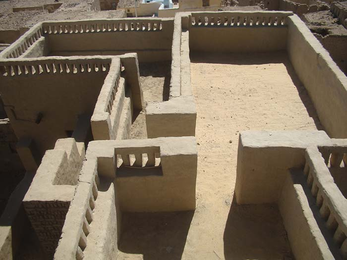 Ancient Egypt Houses Recreation Of A Mud Brick House