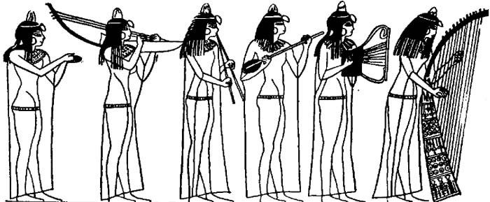 Illustrations of Musicians in Ancient Egypt