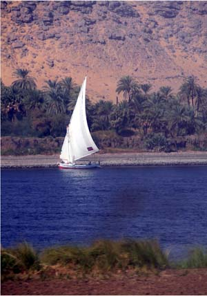 Dhow on The Nile River near Aswan