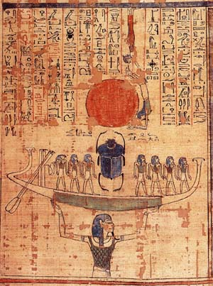 Nun lifting the barque of Ra