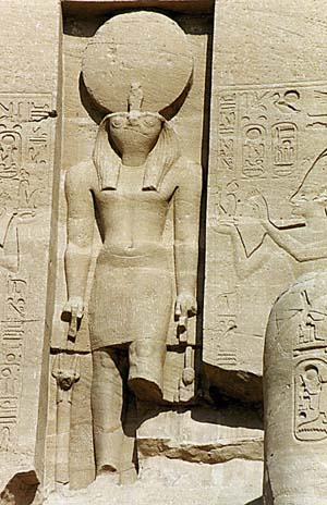 Relief of Ra wearing the sun disc