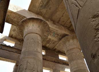 Hypostyle Hall Columns at the Ramesseum