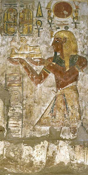 Depiction of Ramses III at Khonsu