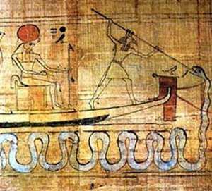 Depiction of Seth battling Apophis