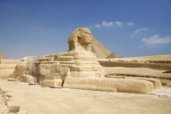 Restoration works at the Great Sphinx