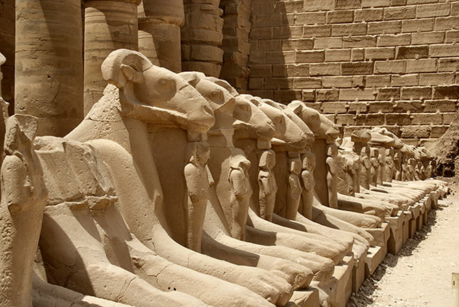 The temple of Amun at Karnak