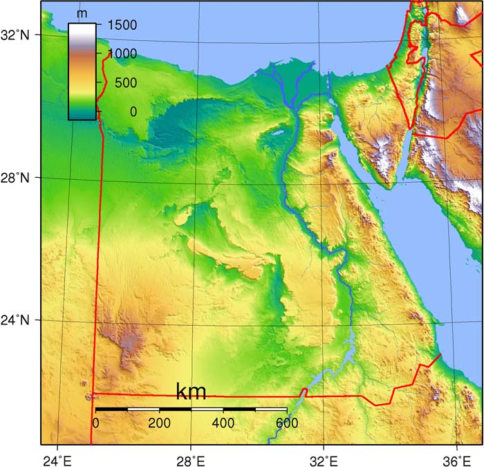 The Geography Of Ancient Egypt - Map of egypt mountains