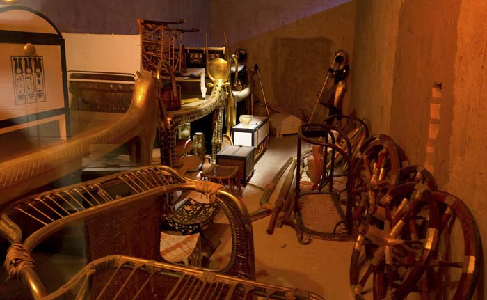 Reproduction of Tutankhamun's Tomb Contents