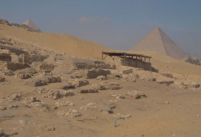 Remains of the workers' village at Giza